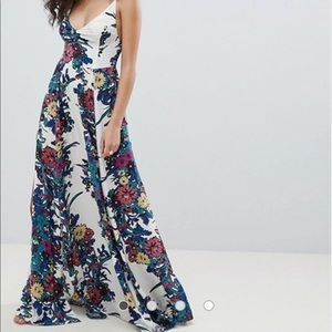 Free People Floral maxi dress Med.